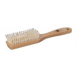 Redecker Brosse à cheveux pour les cuirs (701005) avec trou de suspension souple, 5 rangées de poils clairs, Euro 880043
