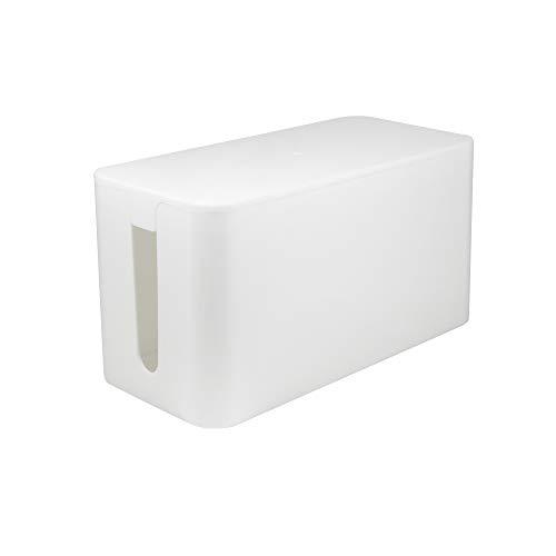 LogiLink KAB0061 - Kabelbox klein (235 x 115 x 120 mm), weiß
