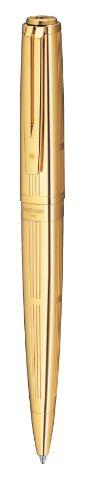 Waterman S0729020 Kugelschreiber (Exception Precious Metals massivgold, strichbreite M) schreibfarbe blau