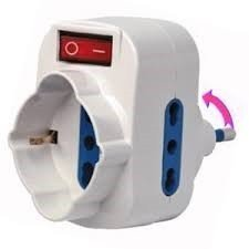 EFI ECK11120 Adattatore di Sistema con Interruttore Rotante, Bianco
