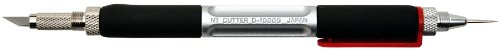 NT Cutter Aluminum Die-Cast Holder Cushioned Grip Art Knife with Needlepoint and Burnishes, 1 Knife...