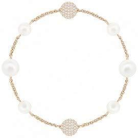 Imagen de swarovski remix collection  pulsera con perlas, l, oro rosa