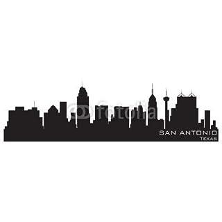 adrium San Antonio, Texas Skyline. Detailed Vector Silhouette(39857174)