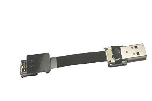Kurzes weiches FFC Standard-USB abgewinkelt FPV Flach Schlankes, dünnes Band-USB-Kabel Standard-USB-Stecker auf Standard-USB A-Buchse für Synchronisation und Aufladung Schwarz (5CM) -