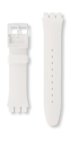 Swatch asuow701–Armbanduhr, Armband aus Gummi Farbe weiß