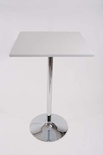 """Bistro-Tisch weiß, Holzplatte quadratisch, 102 cm,\""""München\"""""""