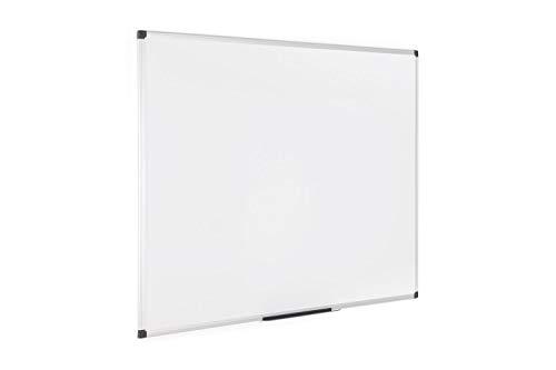 Bi-Office Maya - Pizarra blanca magnética con marco de aluminio, 1200 x 900 mm