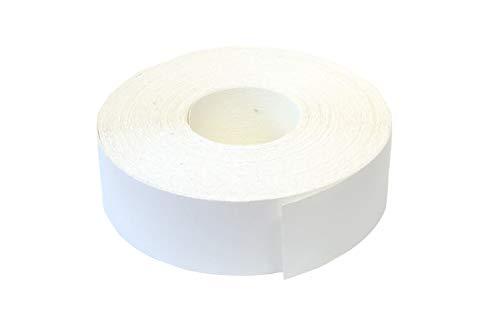 EisenRon - Listón adhesivo para rebordes (melamina, con adhesivo termofusible, 45 mm x 5 m), color blanco liso mate