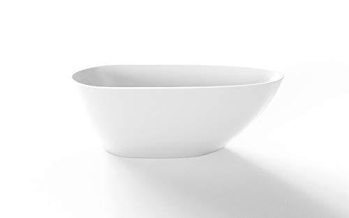 bestshop24.eu Freistehende Badewanne The North Bath Loki 130x70 cm Acryl Oval