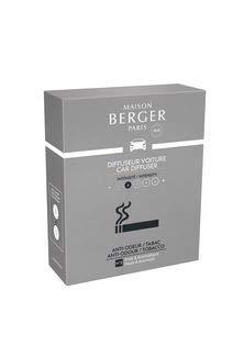Maison Berger - Cofanetto 2 Ricariche per diffusore Auto Anti Odore-Tabacco