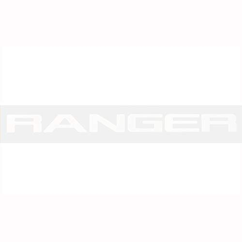 Ozkak Ranger Gitter Oben Logo Brief 3D Emblem Originalgröße ABS Aufkleber Chrom Styling mit Klebstoff, Weiß (Emblem Xlt Ford)