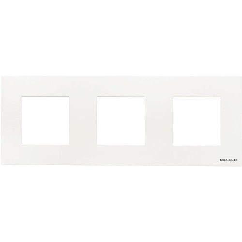 Marco compacto para 3 elementos Niessen Zenit Blanco