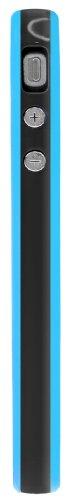 Horny Protectors Bumper für Apple iPhone 4 rosa/weiß mit Metallbutton schwarz/blau