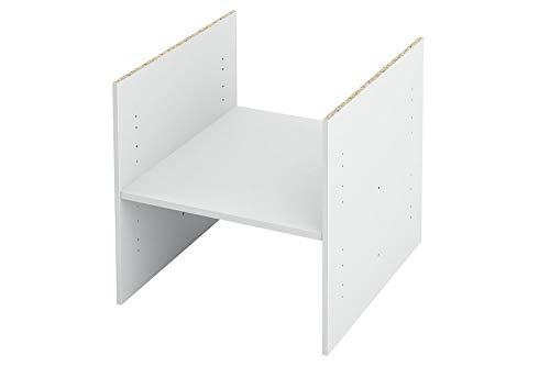 New Swedish Design IKEA Kallax Expedit Regal Einsatz mit 1 Fachboden Ablagefach Extra Fach Fachboden Verstellbarer Boden Dokumentenablage Fachteiler für 2 Einzelfächer 33,5 x 33,5 x 38 cm Weiß