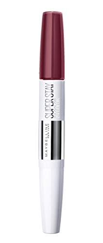 Maybelline Superstay 24H Lippenstift Nr. 260 Wildberry, farbintensiver, flüssiger Lippenstift mit bis zu 24 Stunden Halt, patentierte Micro-Flex-Formel, mit integriertem Pflegebalsam, 5 g -