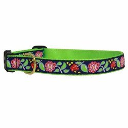 Up Country Posey Hundehalsband, XS, Navy Blue, Red, Green -