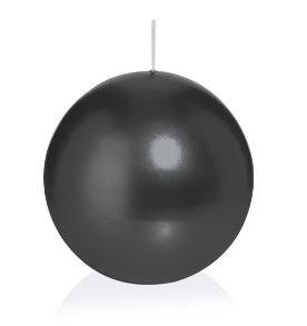 Bougie ronde 6 Ø 80 mm Noir, Brûler temps en heures 25, Bougies pour l'événement, partie, occasion, baptême, mariage, Avent, Noël, décoration