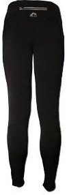 Mens More Mile Montreal Thermal Plain Black Running Tights MM1452