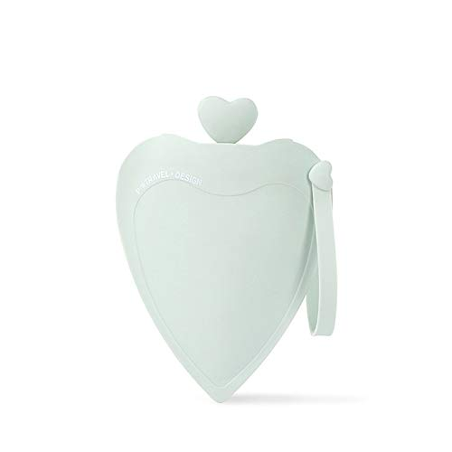 Hlsusan borsa dell'acqua calda cuore forma silicone bottiglia di acqua calda moda creativo scaldamani natale inverno caldo regalo per crampi e sollievo dal dolore,verde