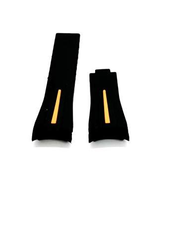 Cinturino Gomma Operativa Rubber For Rolex Strap Watch 20mm Novita' ARANCIONE