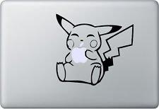 MacDecalDE Pikachu kompatibel mit/Ersatz für MacBook Air Pro Auto usw. Aufkleber Sticker Skin Decal