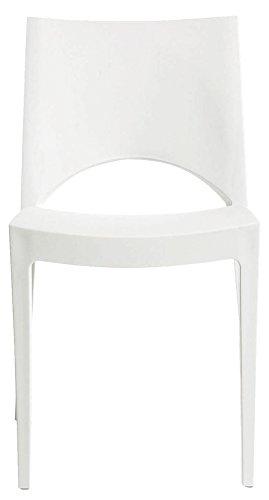 IGAP - Sedia moderna in polipropilene bianco bianco S6314B L43h80p47cm