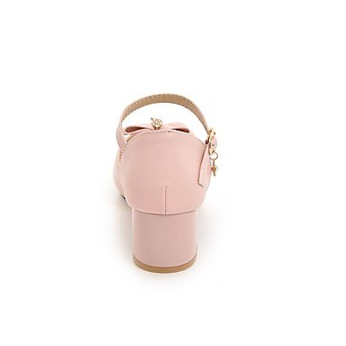 Enochx Donna Sandali Slingback Estate comfort informale in Similpelle Tacco Chunky Bowknot blushing pink