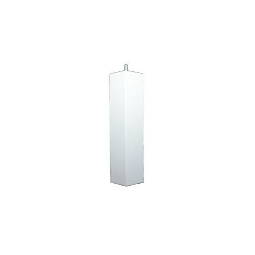 La Fabrique de Pieds Jeu de 4 Pieds de Lit, Bois, Laqué Blanc, 25 x 5,5 x 5,5 cm