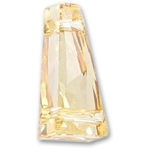 Keystone Swarovski 5181 2 agujeros 17x9 mm Crystal Golden Shadow
