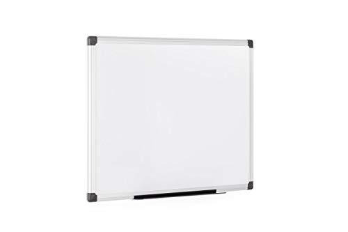 Bi-Office Maya - Pizarra blanca magnética con marco de aluminio, 60 x 45 cm