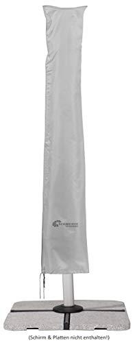 Fodera protettiva schneider per ombrellone a braccio laterale, grigio argento, fino a 400 cm Ø & 300x300 cm