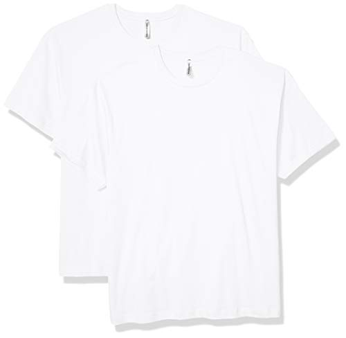 AquaGuard Herren Heavyweight Combed Ringspun Cotton 2 Pack T-Shirt, weiß, X-Groß - Ringspun-fußball-t-shirt