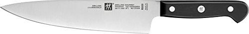 Zwilling 36111–201–0Gourmet Coltello da Chef Acciaio Inox Nero 20cm