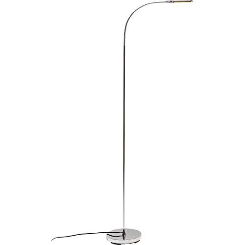 Chrome-transparent-tisch-lampe (Kare Stehleuchte Literature Chrome LED, Gestell Stahl, Schirme Metall Aluminium verchromt, Silber)