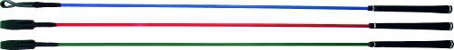 Carmesin 53050 Kontaktstock aus FIEBERGLAS mit Lederschlappe Golf-Softgriff 9mm SCHWARZ für die Bodenarbeit 120 cm Incl. 140 cm Seil mit Lederschlappe