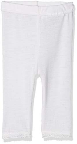 (NAME IT Baby-Mädchen Leggings NBFWANG Wool Needle NOOS, Weiß (Snow White Detail:Solid), 56)