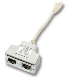 SCE Netzwerkadapter für Cablesharing, Dient als Portdoppler für die strukturierte Kat5 Verkabelung, 2 x 10/100 Base