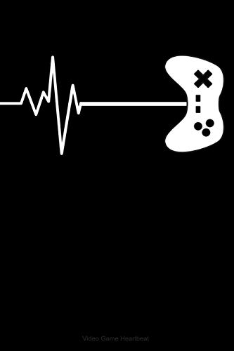 Video Game Heartbeat: Blue Lined Journal Notebook for Video Game Enthusiasts, Gamers, PC or Console, Pixel Games