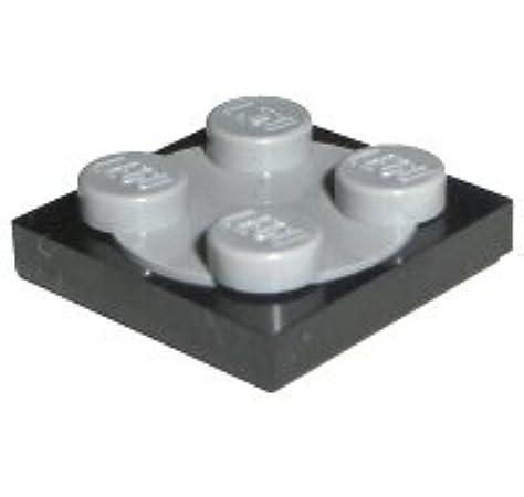 5 Stück Hell Grau 2x2 Schwarz Dreh Platten Lego Technik