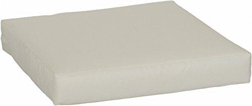 Beo LKP 60x60PY200 Loungekissen Sofakissen Palettenkissen mit Reissverschluss und wasserabweisendem Stoff beige 60 x 60 cm