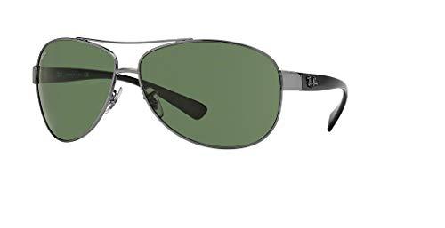 Ray-Ban RB3386 004/71 63M Gunmetal/Green Sunglasses