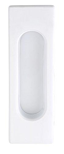 Möbelgriff–Puerta corredera EL-01–Tirador rectangular Puerta corrediza Color Blanco Mate–Modelo 3663, 125x 40mm...