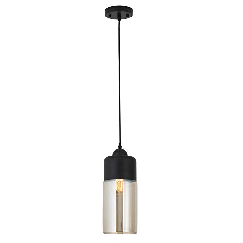 Lámpara de Techo Vintage Vidrio Colgante de Luz Vintage Metal Industr