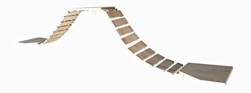 Chrischiii84 Hängebrücke für Katzen, Buche massiv, 220cm - 520cm
