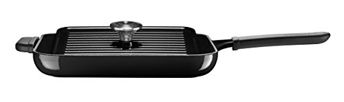 KitchenAid KCI10GPOB Cast Iron Grill and Panini Press, 18.5 x 28.5 x 5 cm, Onyx Black