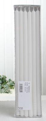 Stabkerzen, 30 x 1,2 cm Ø, 12er-Pack, weiß