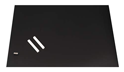 Queence Magnethaftende Tafelfolie I Wand-Tafel beschreibbar zuschneidbar I Rückseite selbstklebend, Farbe:Schwarz, Größe:DIN A3