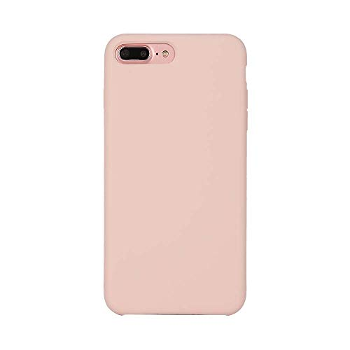 cuzz Oppo K1/Oppo R15X [Liquid Silikon] Hülle Case+{1 x Panzerglas Schutzfolie} Silikon Schutzhülle Handyhülle,Outdoor Stoßfest Schutzhülle Schmaler Telefonschutz-Pink