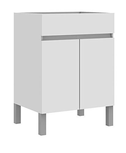 Madesa - Armario de baño para Lavabo (Doble Puerta), Blanco, Medium
