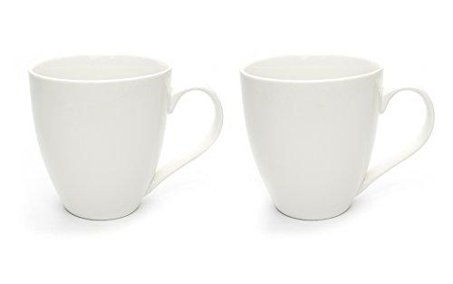 Hausmann & Söhne XXL Tasse Weiß groß aus Porzellan | Jumbotasse 500 ml (550 ml randvoll) im 2er...